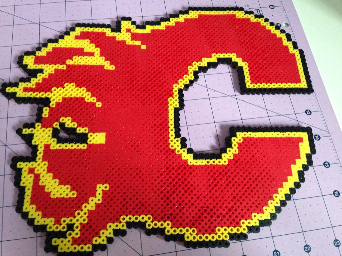 Calgary Flames Logo Perler Creations Logos Superhero Logos