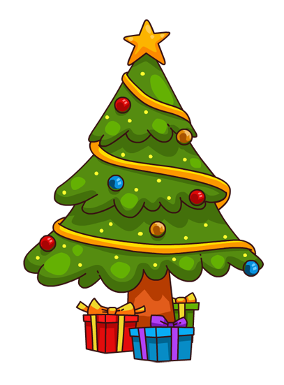 Image result for cartoon christmas tree