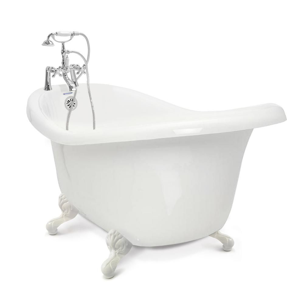 American Bath Factory Chelsea 60 In Acrylic Slipper Clawfoot
