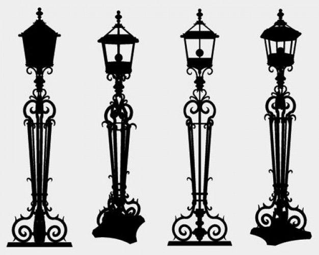 Freepik Des Ressources Graphiques Pour Tous Candelabra Silhouette Drawing Lamp Post