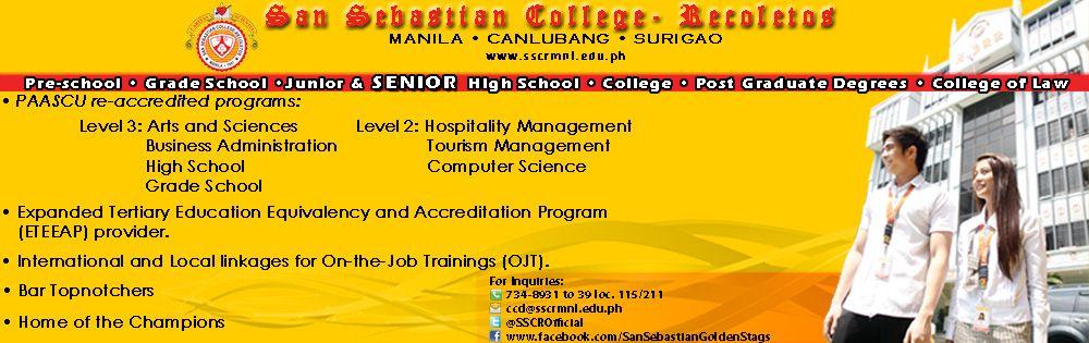 San Sebastian College Recoletos De Manila Tertiary Education School Computers College