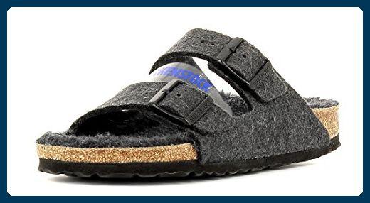 qY5q0yQ6Sn Unisex Erwachsene Arizona Sandalen, Grey (Anthracite Happy Lamb Black), 40 EU (7 UK)