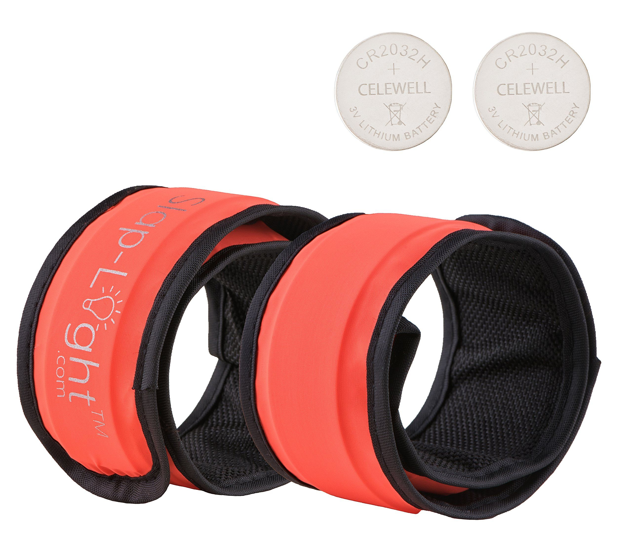 2 x LED Slap Bands with 2 spare batteries / Armbands