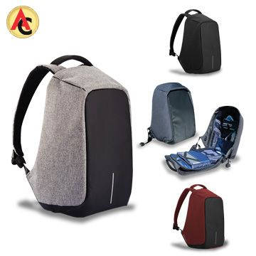 Anti-theft backpack with invisible zippers