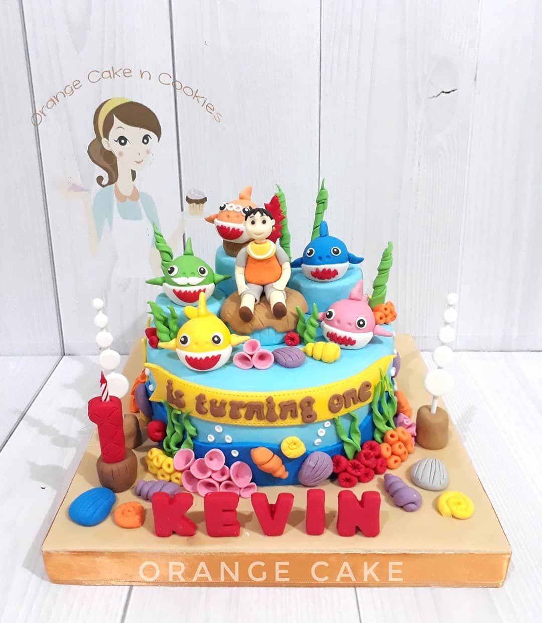 baby shark cake decorating kit