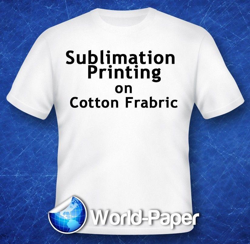 Sublimation Printing On Cotton T Shirts Light Fabric Heat