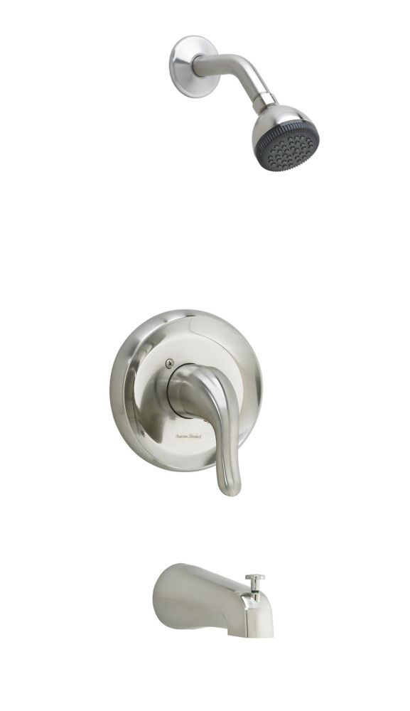 Cadet 1 Spray Wall Mount Tub Shower Faucet In Brushed Nickel With
