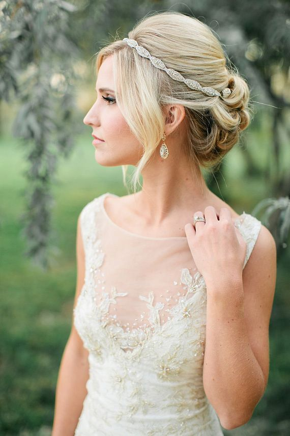 Classic Bridal Updo Hairstyle : Our favorite bridal hair accessories romantic bridal updos