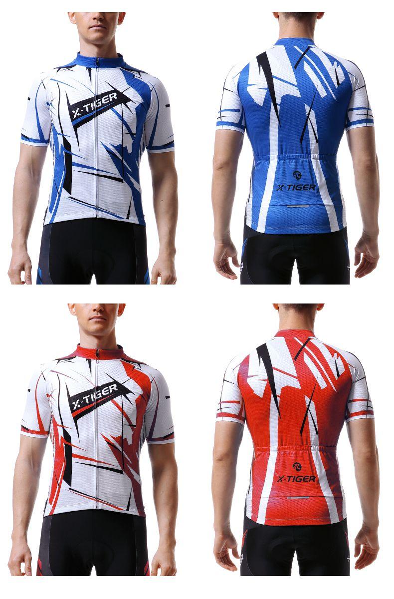 X-Tiger Cycling Jersey Summer MTB Bike Sportswear Short Sleeve Bicycle  23eae657c