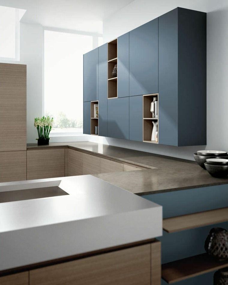 Travail Kitchen: Plan De Travail Cuisine Moderne En Pierre Et Bois