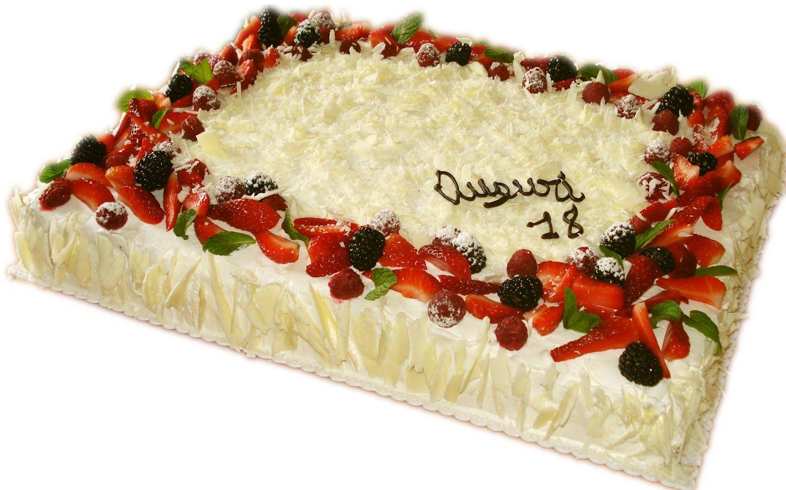 Torte con la panna decorate cerca con google torte di for Decorazioni torte frutta e panna