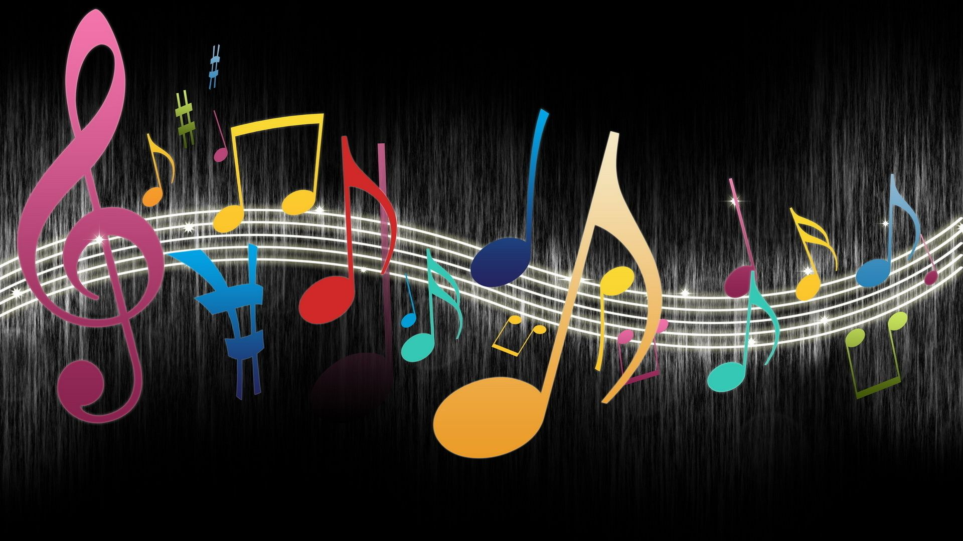Colorful Music Notes Wallpaper Widescreen 2 HD Wallpapers