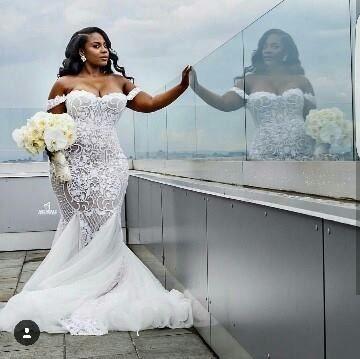 Mermaid Wedding Dresses for Black Women_Black Dresses_dressesss