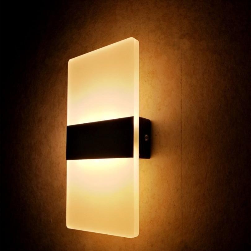 Modern Strip Acrylic Led Wall Lamp In 2020 Led Wall Lamp Wall Lights Modern Decoration