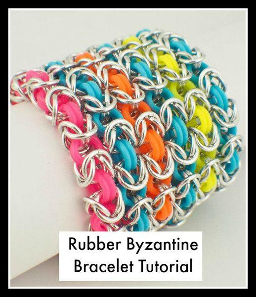 PDF Jewelry Tutorial - Rubber Byzantine Instructions | Unkamen Supplies
