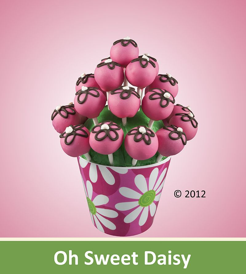 The Oh Sweet Daisy Creation: A beautiful bouquet of cake pops made just for that special someone in your life. A great gift for Mothers Day!     Featuring: Your choice of cake pop flavors. As Shown $50.00 #cakepopbouquet