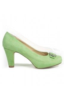 trachten dirndl shoes 6000 green - Stockerpoint