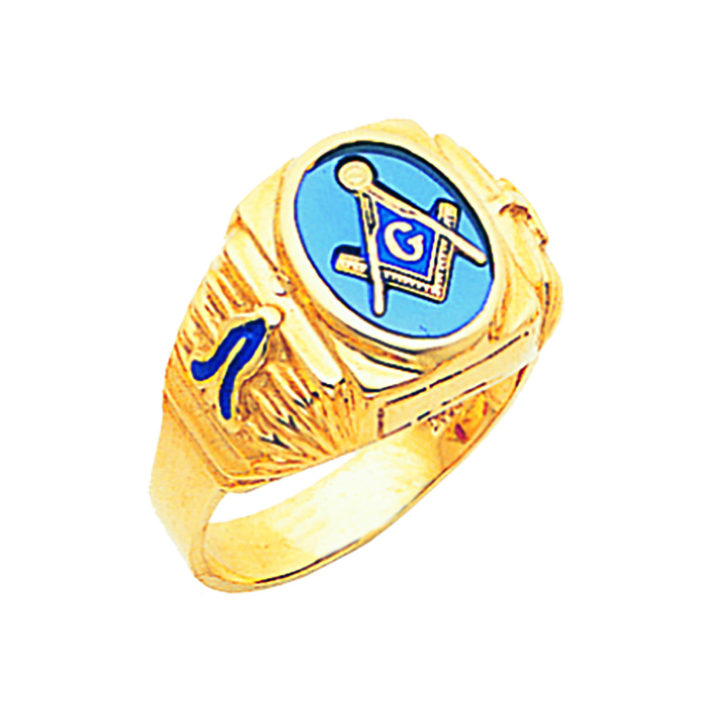 Masonic Ring Open Back In 10k Gold Fl1757bl 10k 611 10 Fratline Emblematics Custom Fraternal Lapel Pins Masoni In 2020 Masonic Masonic Jewelry Masonic Ring