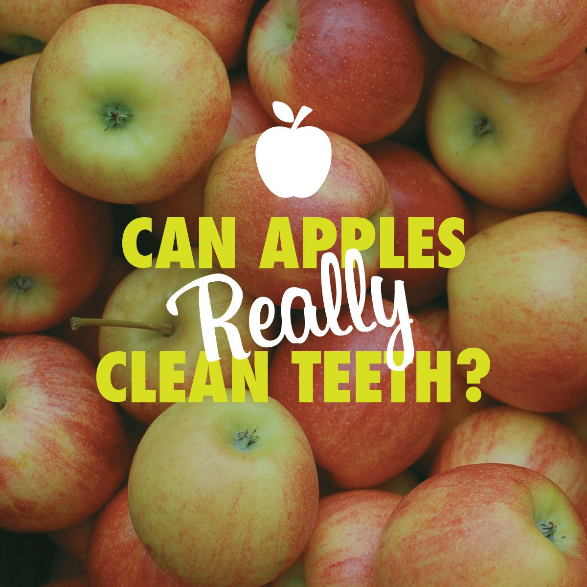 APPLE DAY is Oct. 21! Apples DO help clean teeth, just