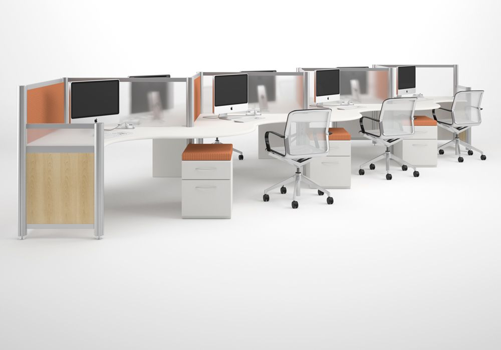 Zig Zag Workstations Custom Modern Office Furniture