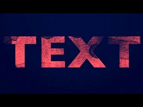 distressed text