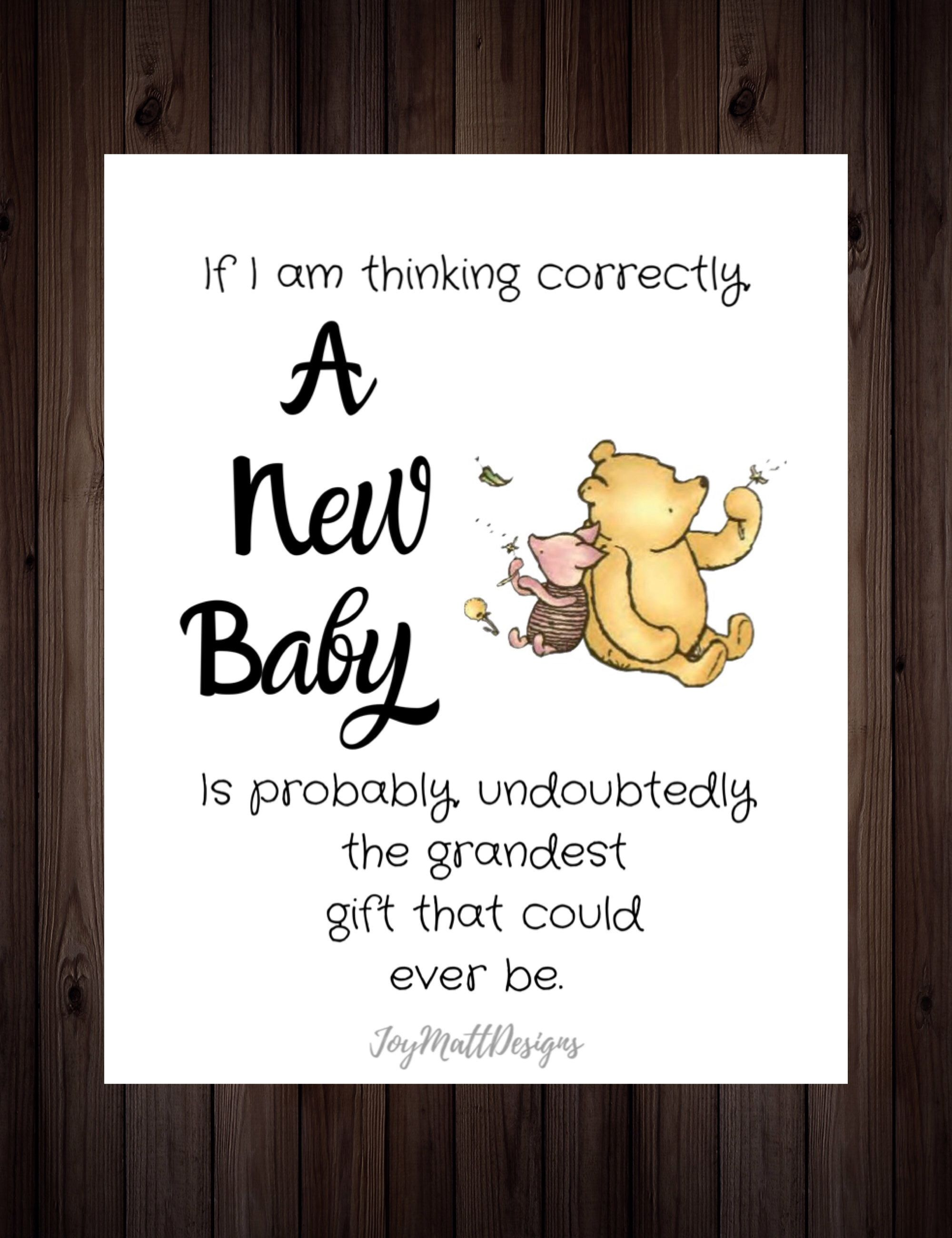 Winnie The Pooh Baby Shower Quotes : winnie, shower, quotes, Classic, Winnie, Quote, Nursery, Shower, Products,, Disney, Shower,