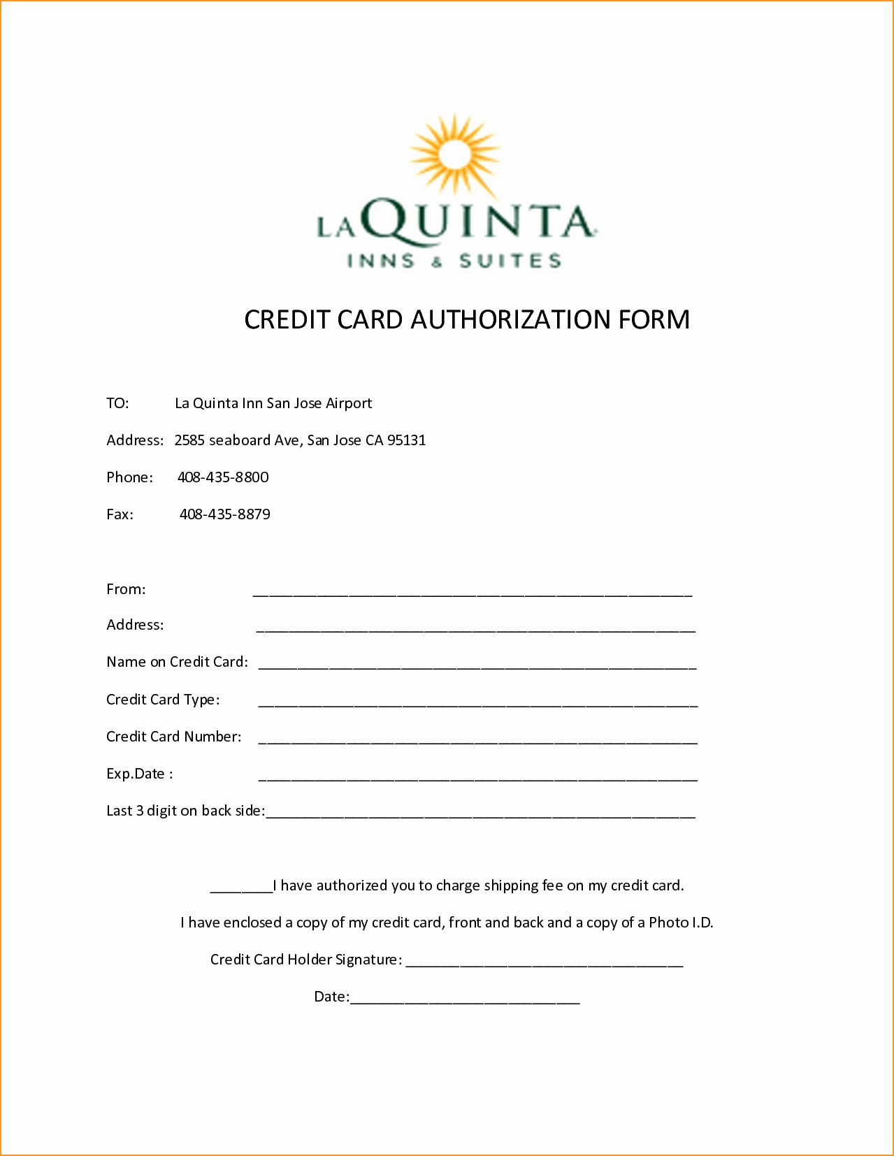 Credit Card Authorization Letter Template Elegant 10 Credit Card Authorization Form Template Free D Hotel Credit Cards Credit Card Free Business Card Templates