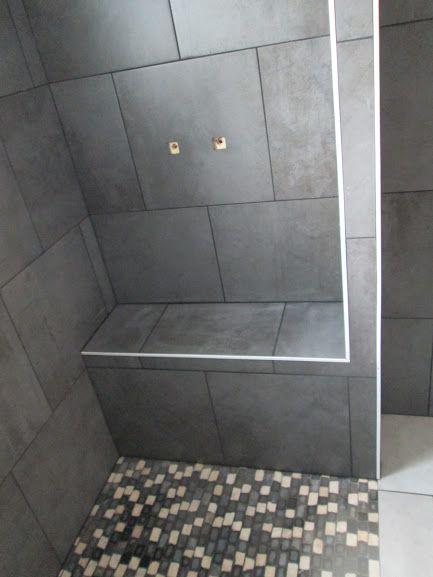 banc douche fa enc bati pl tre marionneau pinterest douches bancs et platre. Black Bedroom Furniture Sets. Home Design Ideas