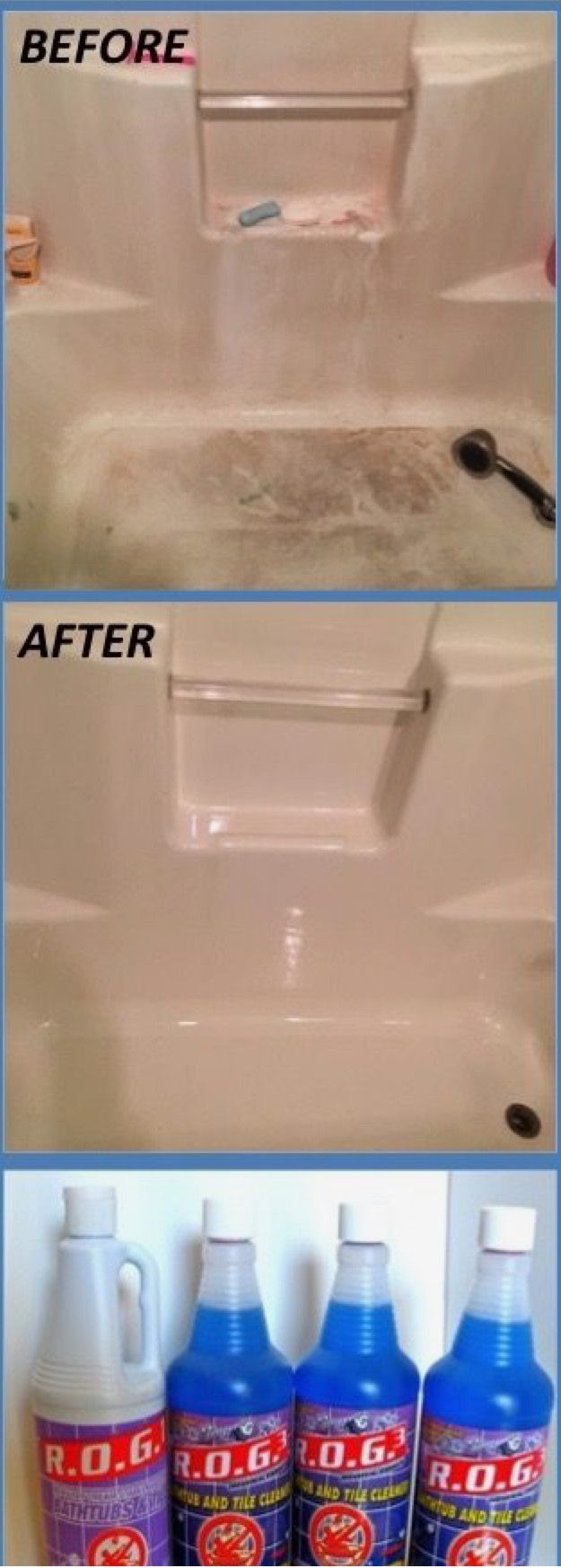 Best fiberglass cleaner | Cleaning fiberglass tub, Shower cleaner