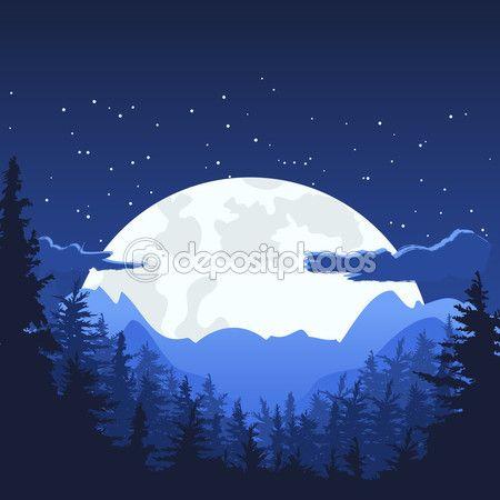Landscape Night Moon