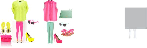 """Fun with the Neon"" by srz118 on Polyvore"