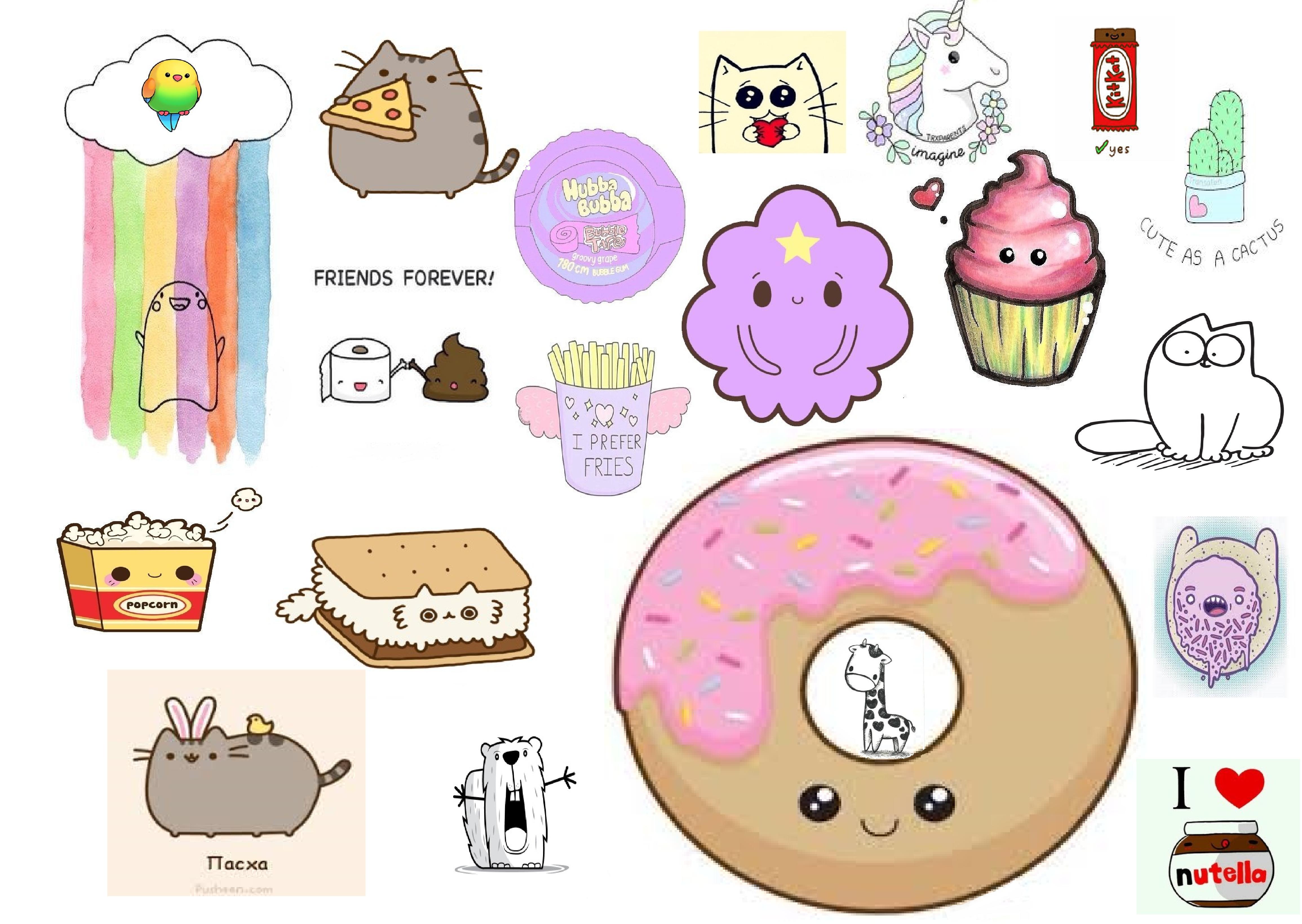 Картинки вкусняшки и сладости для срисовки