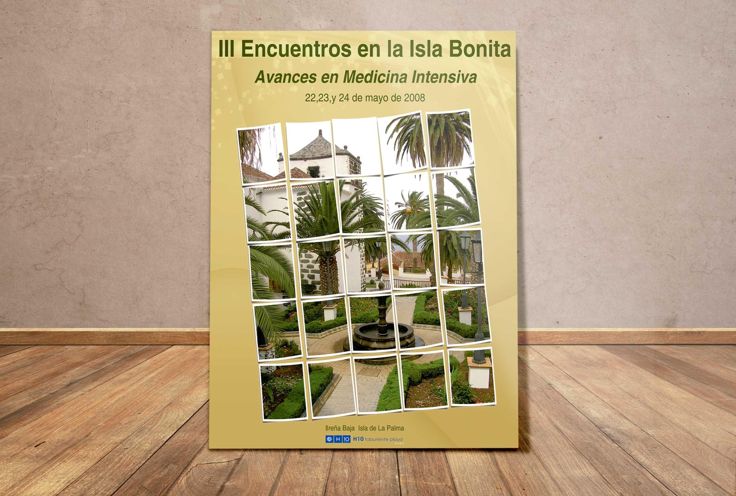 Diseño de cartel para el III Congreso de Medicina Intensiva. La Palma