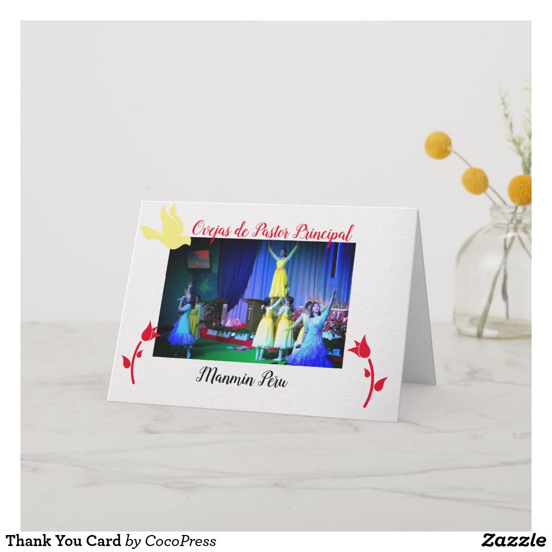 create your own folded thank you card  zazzlecouk