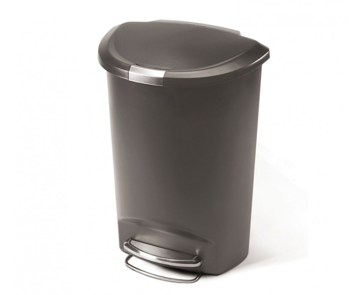 50l Semi Round Step Can Plastic Kitchen Trash Cans Dog
