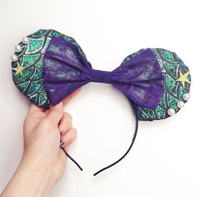 My Minnie Ears Diy  Little Mermaid style 💖