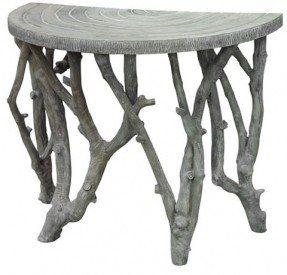 Merveilleux Perfect Half Circle Porch Table