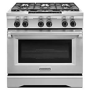 Kitchen Aid Stoves Tile Countertops 7 000 36 Inch 6 Burner Dual Fuel Freestanding Range Commercial Style
