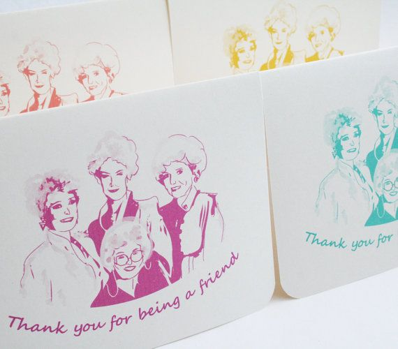 golden girls cards thank you for being a friend set of 4 thank