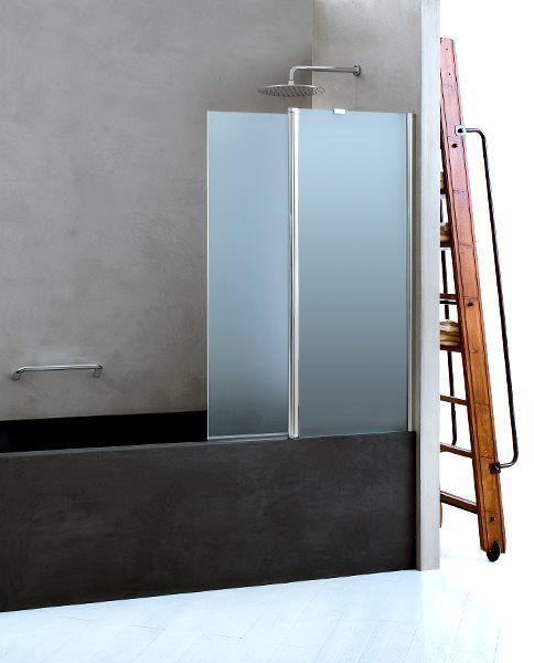 �cran de baignoire orientable avec joint inf�rieur coupl� � une articulation � Came int�gr�e et rotation du panneau � 180�.