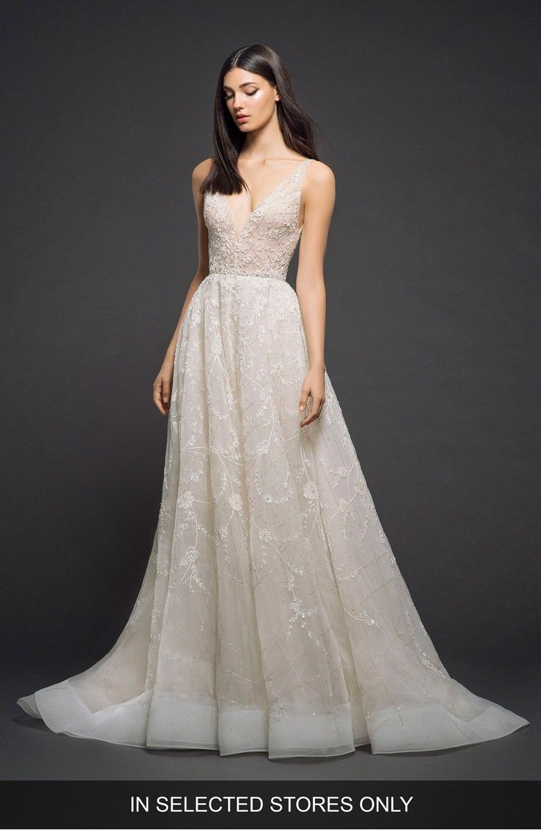 Embellished Organza Gown Main Color Chagne Nude: Embellished Organza Wedding Dress At Websimilar.org