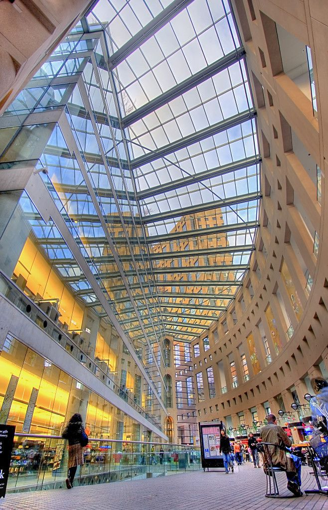 The Interior of the Vancouver Public Library Photo By Dora GFDL or CC-BY-SA-3.0 via Wikimedia Commons