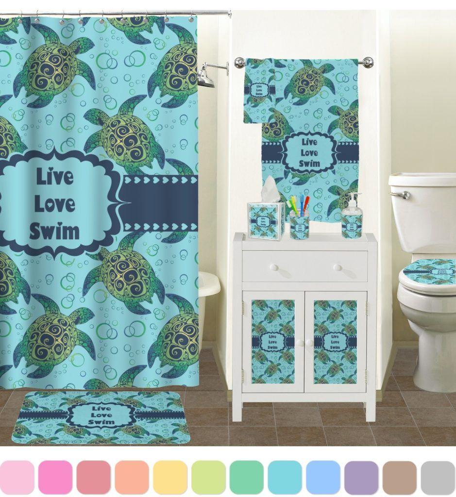 Turtle Shower Curtains Bath Accessory Sets | Shower Curtain ...