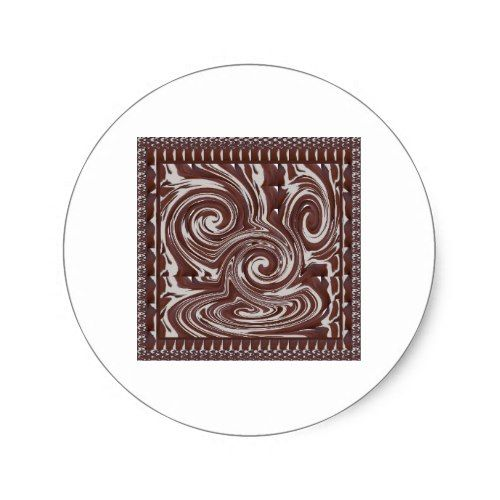 CHOCOLATE Monster TEMPLATE Resellers Welcome GIFTS Classic Round - monster template