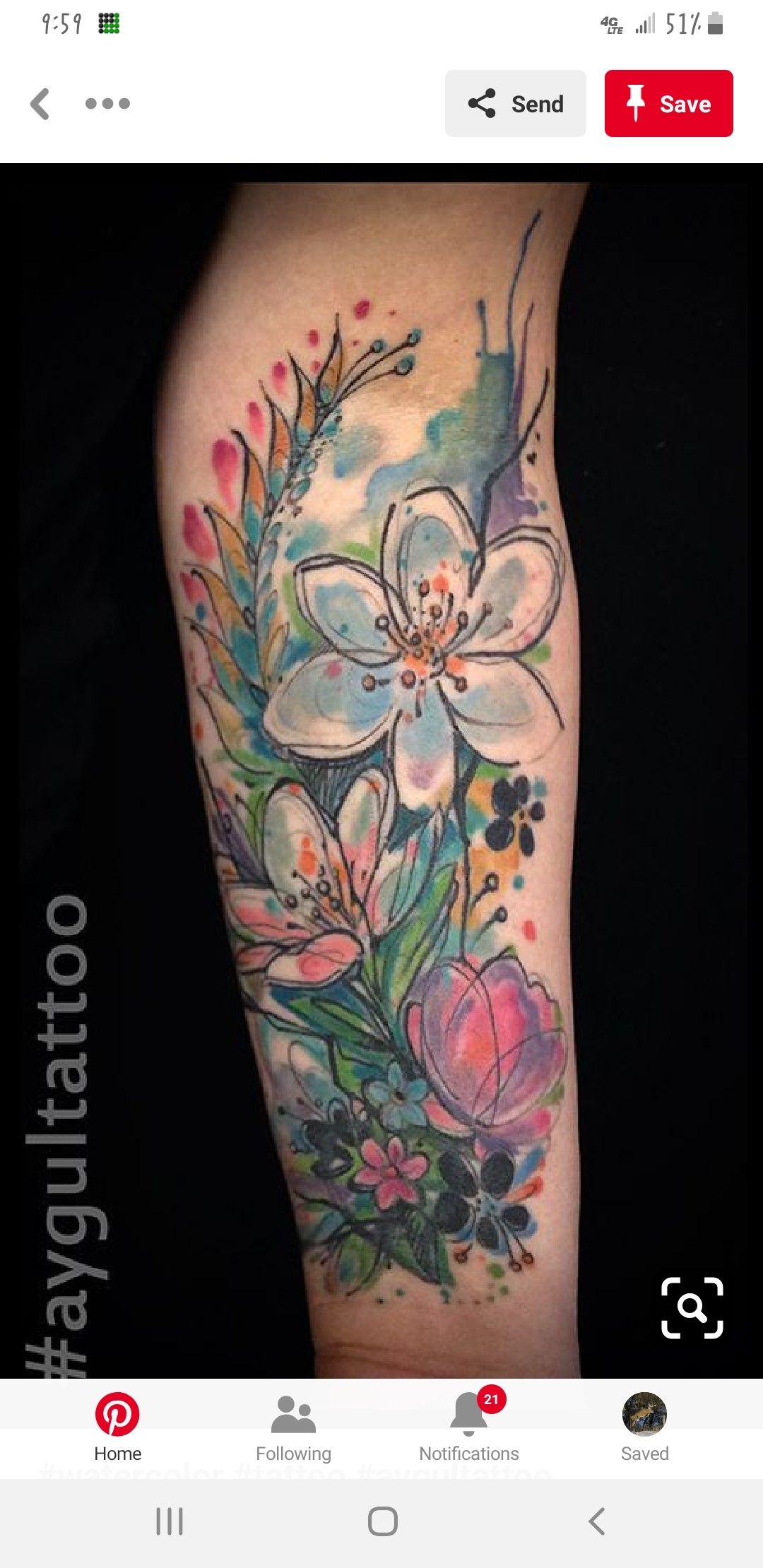Pin By Michelle Garrett On Tattoos In 2020 Watercolor Abstract