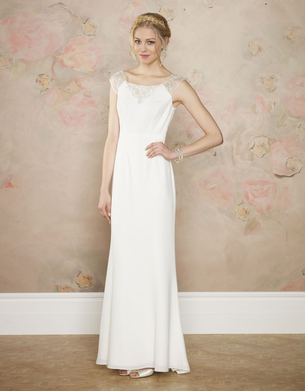 Annabel Dress | White | Monsoon. Love the detail on the neckline and ...