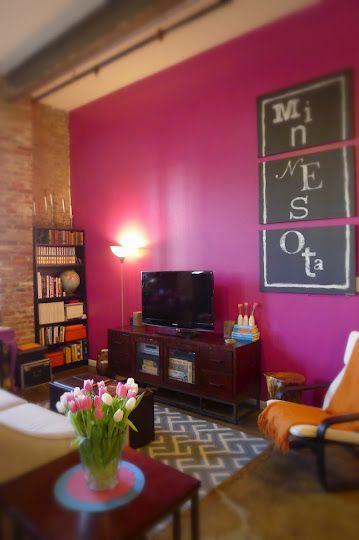 Misc Magenta Pink Home Decor Magenta Bedrooms Pink Accent Walls