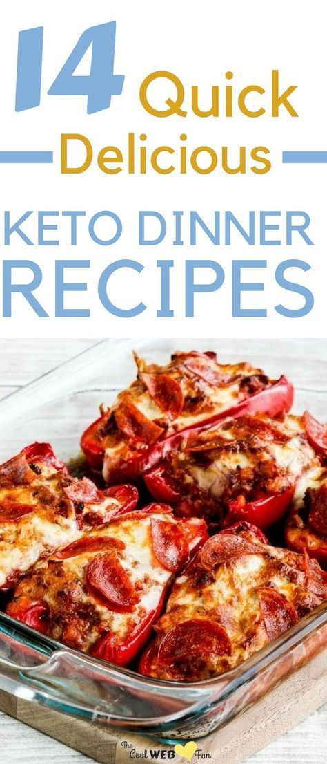 Keto Dinner: 14 Simple + Quick Keto Dinner Recipes to make Tonight images