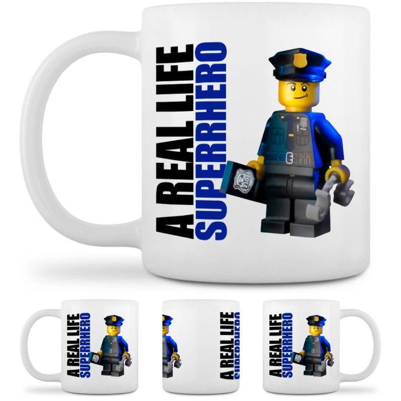 "Ceramic Coffee Mug: ""Police Officer Superhero"""