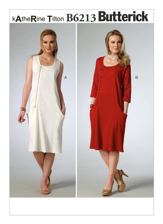 Sz 8/10/12/14/16 - Butterick Dress Pattern B6213 by KATHERINE TILTON ...